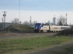 NCDT 1755 leads Amtrak 74 out of Salisbury